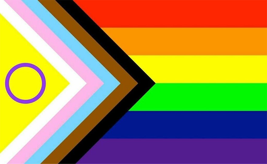 The Progress flag with the Intersex flag incorporated.